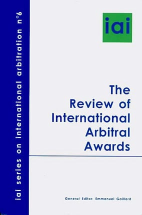 The Review of International Arbitral Awards N°6