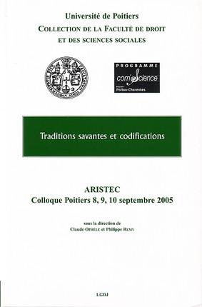 Traditions savantes et codifications