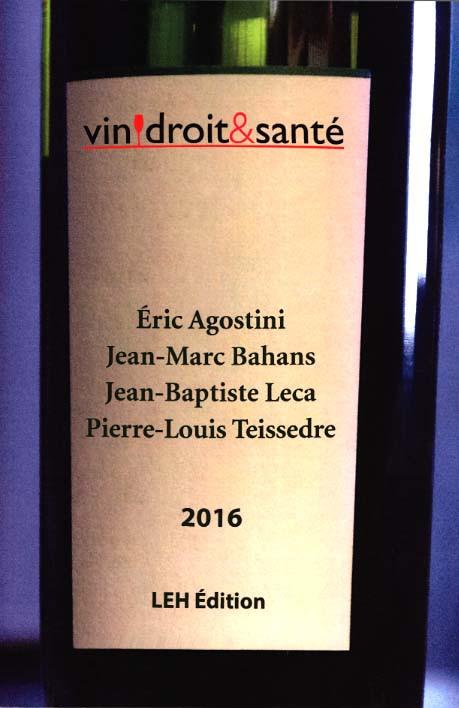 Vin, droit & santé 2016