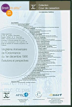 Vingtième anniversaire de l'ordonnance du 1er décembre 1986 (coffret 1 CD-Rom)