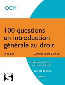 100 questions en introduction générale au droit