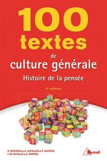 100 textes de culture générale