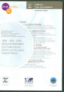 1806-1976-2006 - De la commémoration d'un code à l'autre, 200 ans de procédure civile en France (coffret 1 CD-Rom)