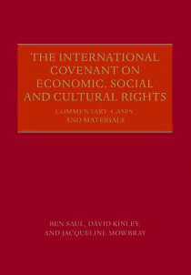 The International Convenant on Economic, Social and Cultural Rights