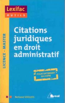 Citations juridiques en droit administratif