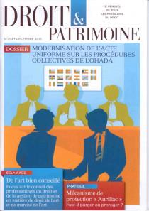 Droit & patrimoine, décembre 2015 N°253