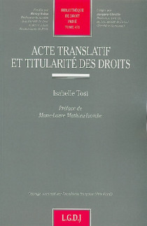 Acte translatif et titularité des droits