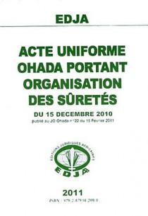 Acte uniforme OHADA portant organisation des sûretés