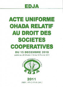 Acte uniforme OHADA relatif au droit des sociétés coopératives