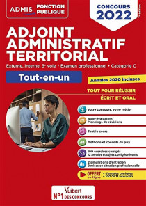 Adjoint administratif territorial : concours 2022