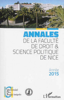 Annales de la Faculté de droit & science politique de Nice, année 2015