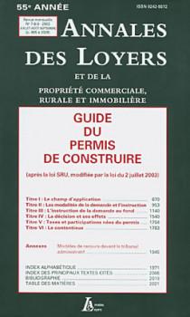 Annales des loyers, 55e année, juillet-août-septembre 2003 N°7-8-9
