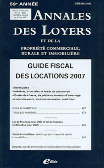 Annales des loyers, 59e année, février-mars 2007 N°2-3