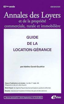 Annales des loyers, 62e année, août-septembre 2011