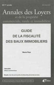 Annales des loyers, 65ème année, février-mars 2013 N°2-3