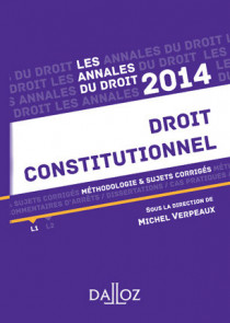 Annales droit constitutionnel 2014