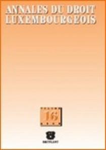 Annales du droit luxembourgeois - 2006