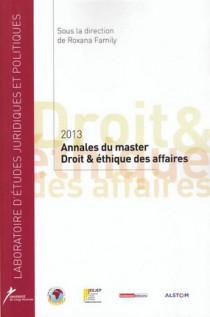 Annales du master Droit et éthique des affaires 2013
