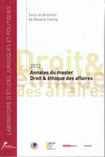 Annales du master Droit et éthique des affaires 2012