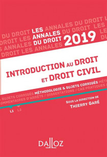 Annales introduction au droit et droit civil 2019