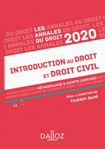 Annales introduction au droit et droit civil 2020