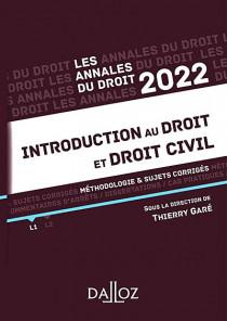 Annales introduction au droit et droit civil 2022