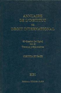 Annuaire de l'Institut de Droit International 2021