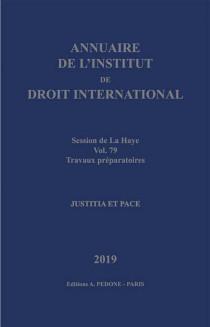 Annuaire de l'Institut de Droit International 2019