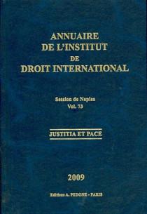 Annuaire de l'Institut de Droit International (broché)