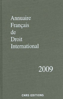 Annuaire français de droit international 2009
