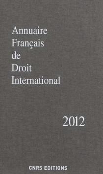 Annuaire français de droit international 2012
