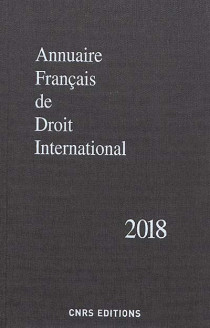 Annuaire français de droit international 2018