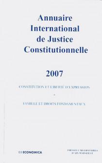 Annuaire international de justice constitutionnelle 2007