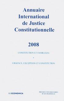 Annuaire international de justice constitutionnelle 2008