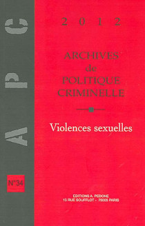 Archives de politique criminelle, 2012