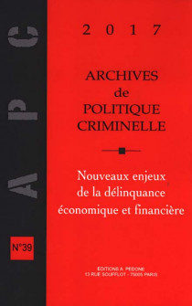 Archives de politique criminelle 2017