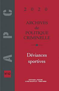 Archives de politique criminelle 2020