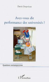 Avez-vous dit performance des universités ?