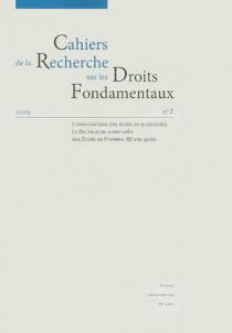 Cahiers de la Recherche sur les Droit Fondamentaux, 2009 N°7