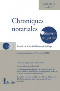 Chroniques notariales