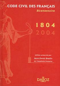 Code civil des français 1804-2004