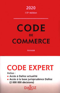 Code Dalloz Expert : code de commerce 2020
