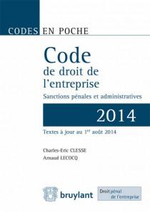 Code de droit de l'entreprise 2014