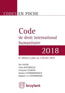 Code de droit international humanitaire 2018