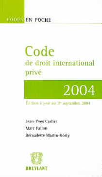 Code de droit international privé 2004