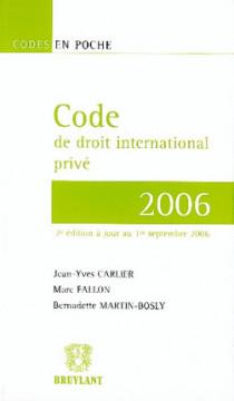 Code de droit international privé 2006
