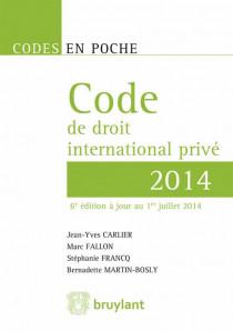 Code de droit international privé - 2014