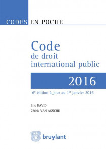 Code de droit international public 2016