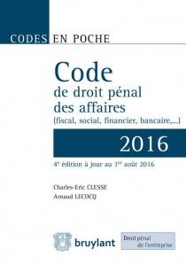 Code de droit pénal des affaires 2016