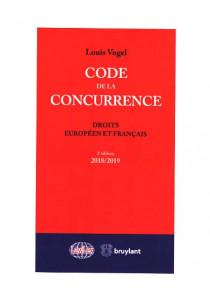 Code de la concurrence 2018-2019